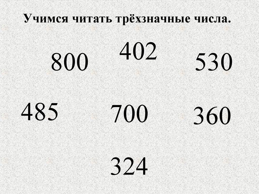 трехзначное число как сумма разрядных слагаемых презентация