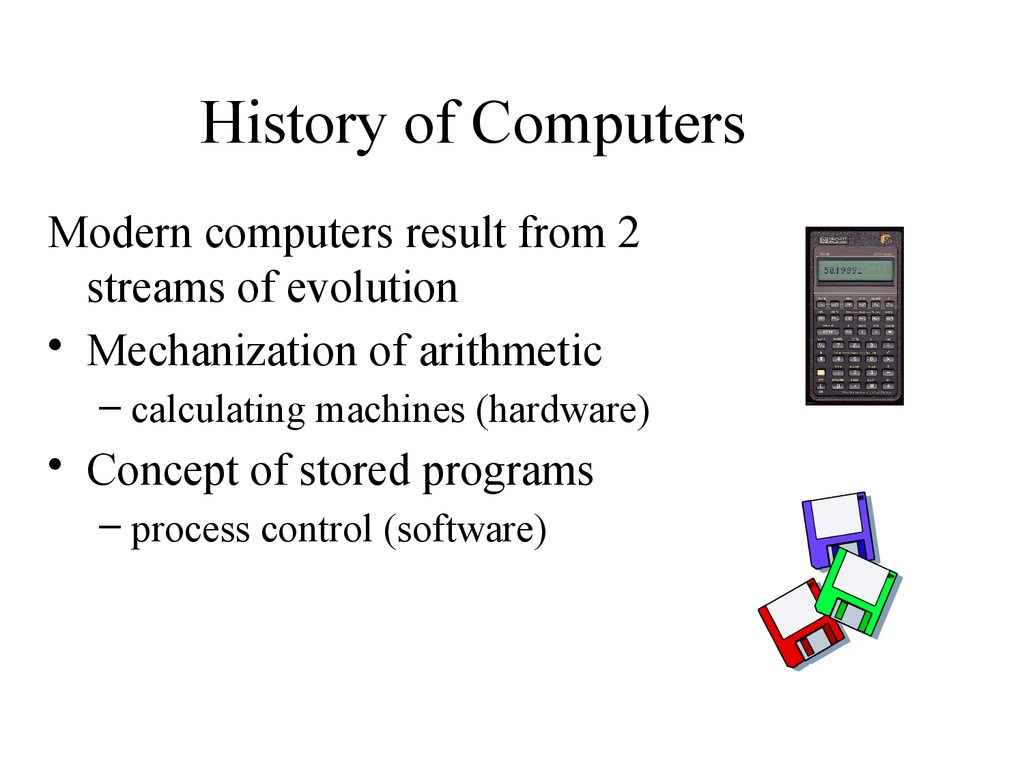 the history of modern computers Timeline of computing history o commemorate the 50th year of modern computing and the computer society, the timeline on the following pages traces the evolution of computing and computer.