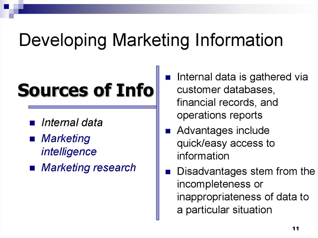Chapter 4 Managing Marketing Information to Gain Customer Insights