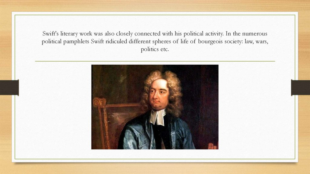A life and literary works of jonathan swift