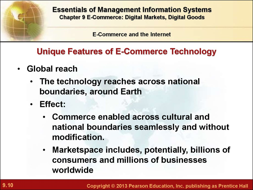 e commerce and management information system Introduction to management information systems chapter 8 e-commerce and supply chain management chapter 9 electronic commerce systems is the property of.