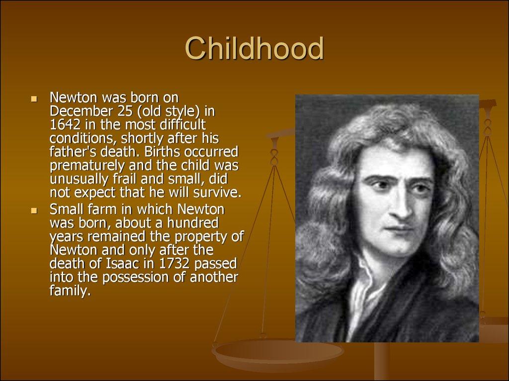 sir isaac newton was born in