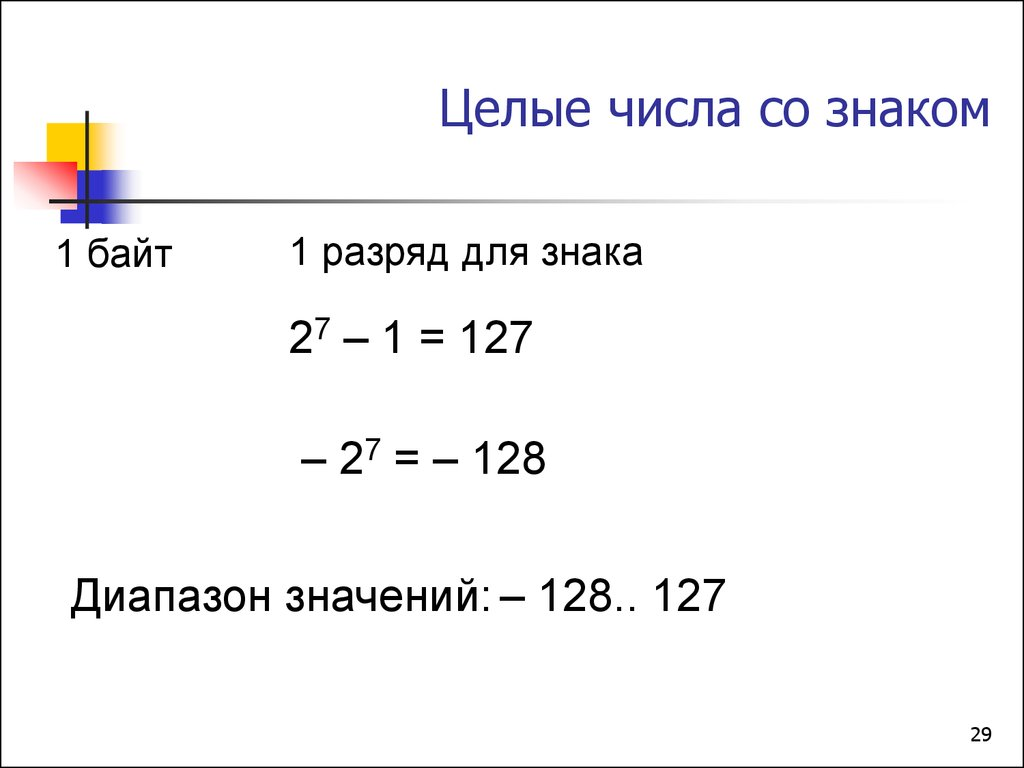 числа со знаком в ассемблере
