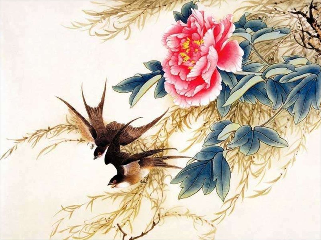 Bird and flower art