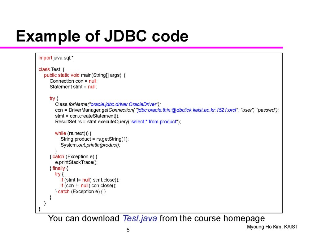 Oracle jdbc driver class