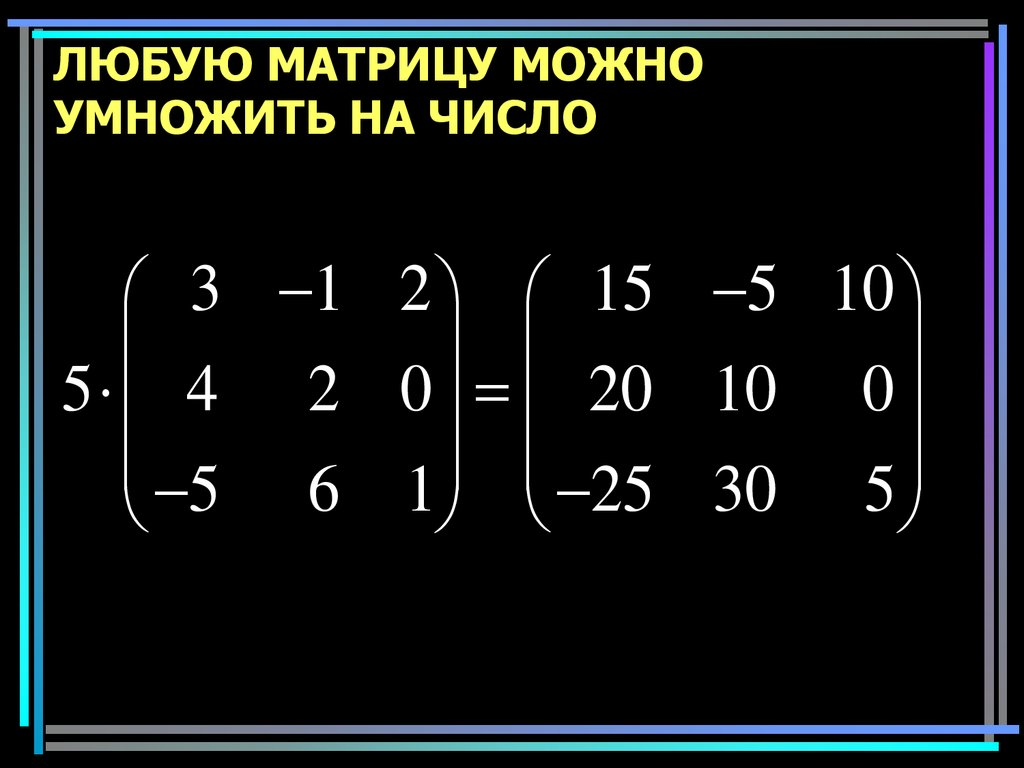 Extraordinary vector matrix multiplication pictures