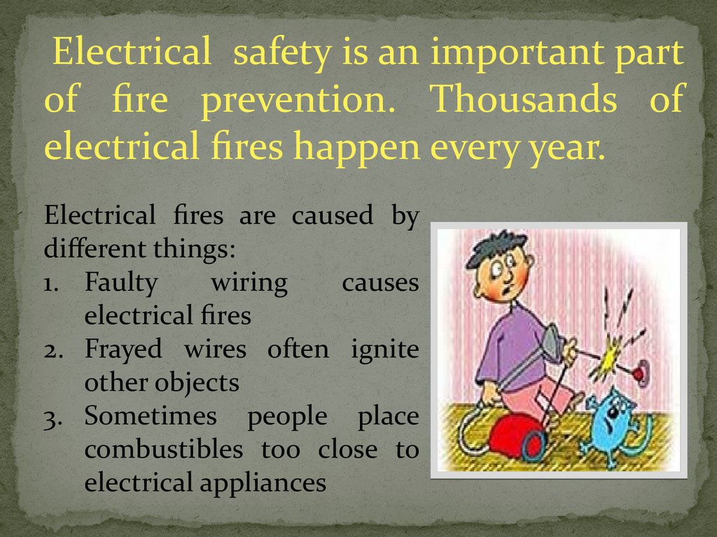 Rules Of Exploitation Of Electric Devices