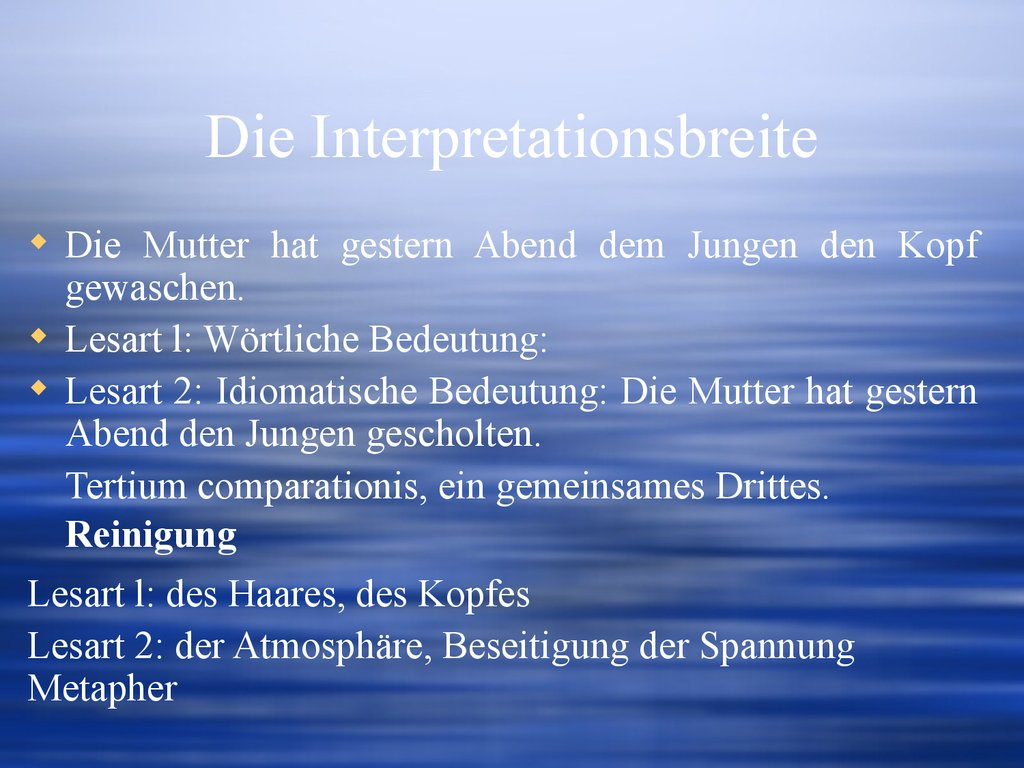 Die Interpretationsbreite