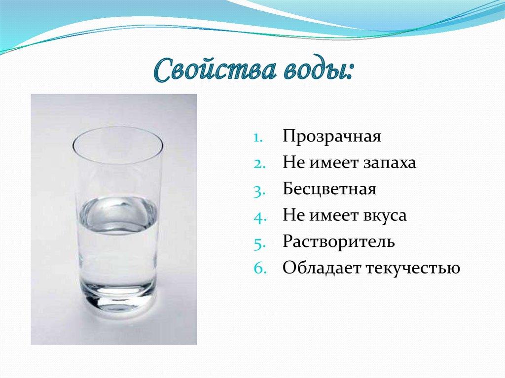 Вода и её свойства рисунок