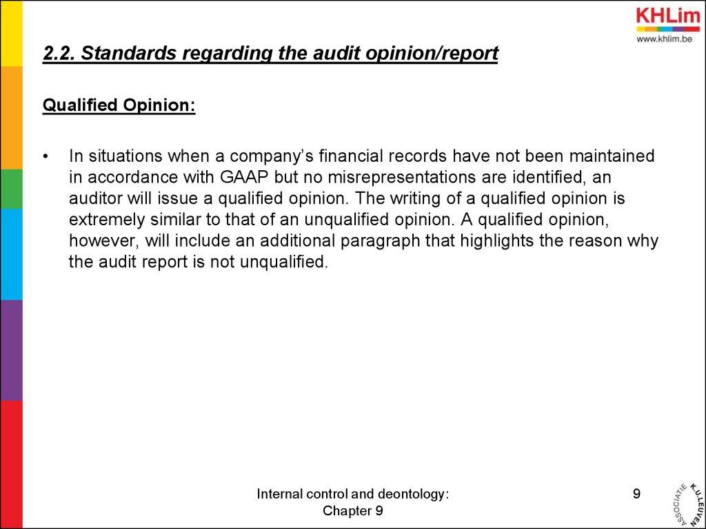 Internal control project paper