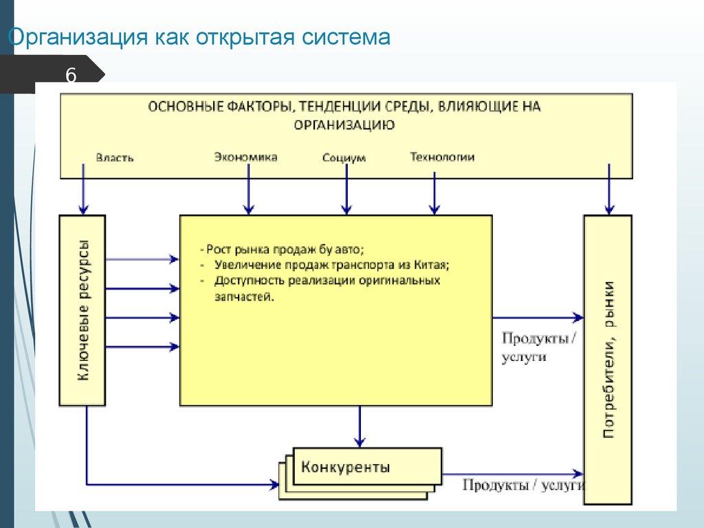 Организация как открытая система