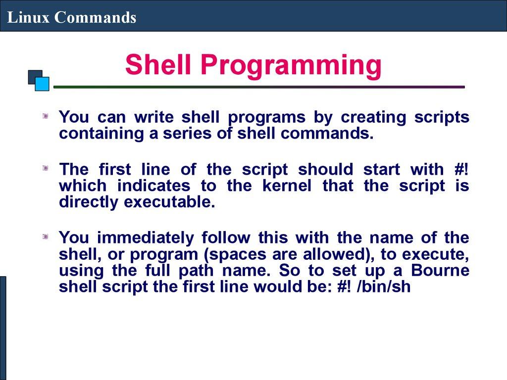 write shell script