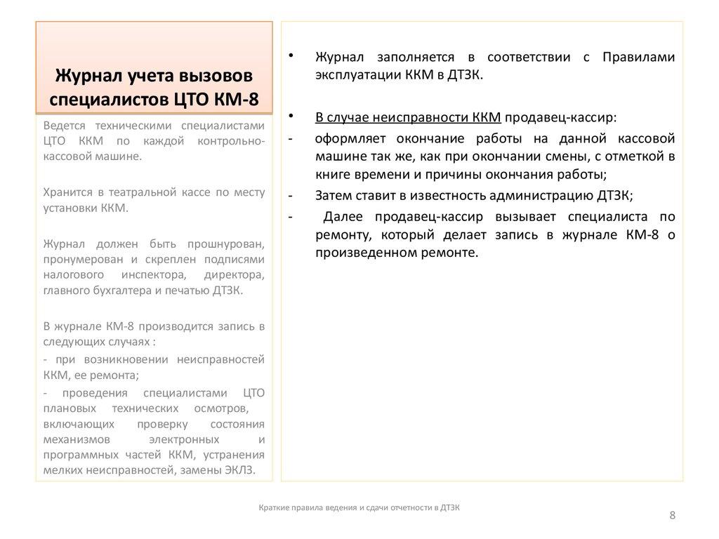 бланк журнала учета вызовов технических специалистов