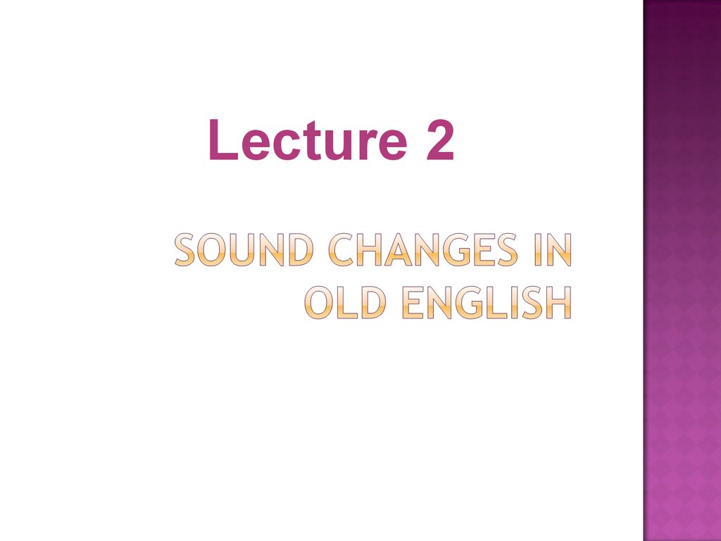 Sound changes in Old English