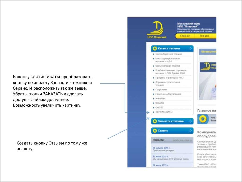 Техническое задание для создания сайта