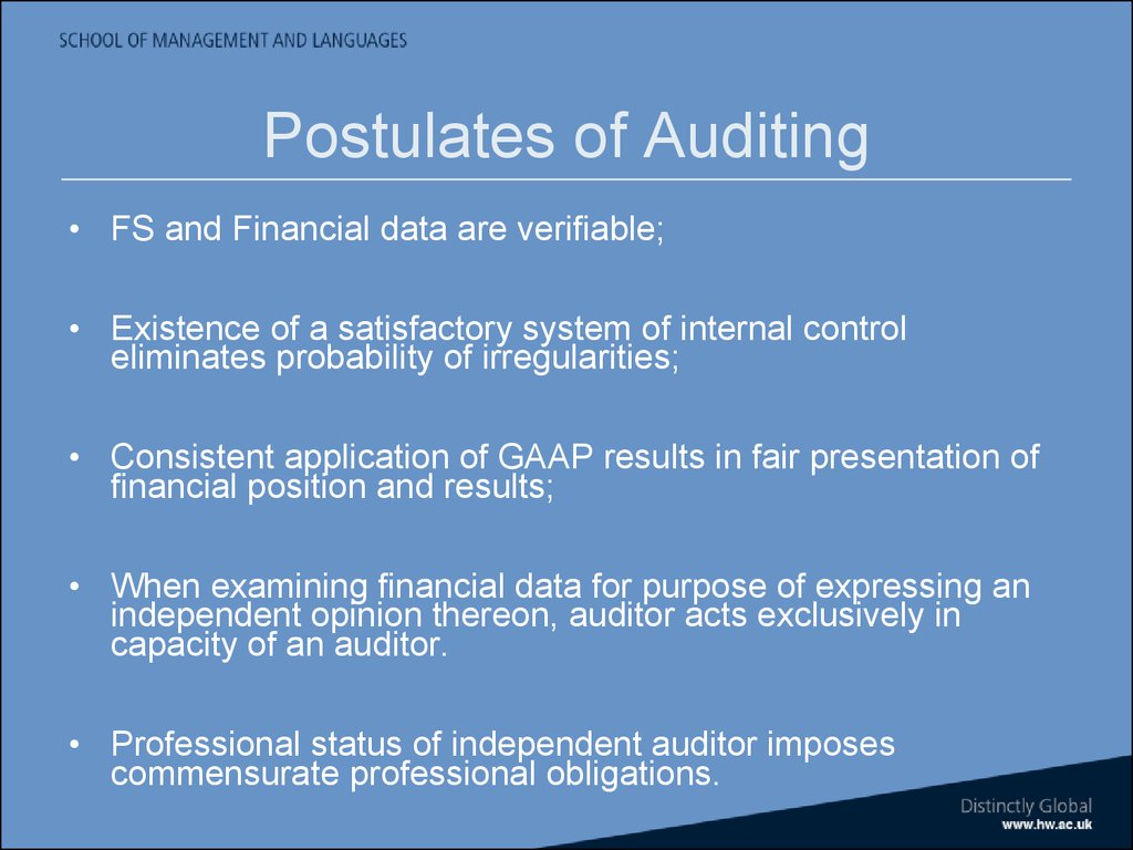 accounting postulates Discuss dr scott's hierarchy of postulates and principles 3 discuss the contributions of the works by sanders hatfield and more, and paton and littleton to accounting theory.