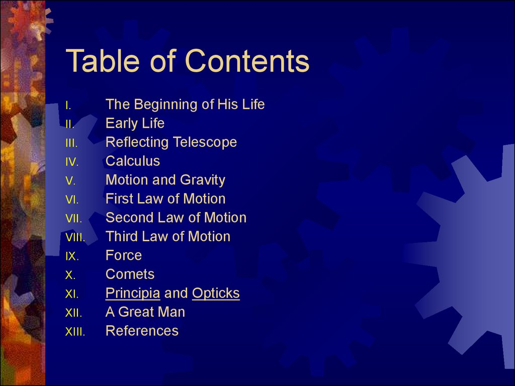sir isaac newton life and accomplishments  sir isaac newton table of contents