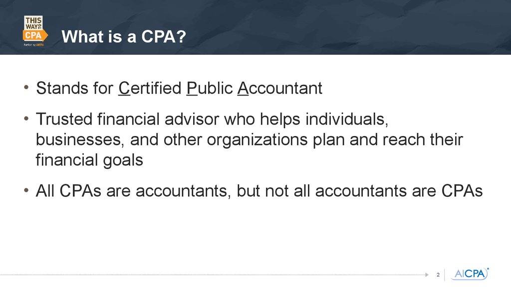 becoming certified public accountant aspirations numbers According to the bls, the median pay for an accountant with a bachelor's  non- profit accountancy: not-for-profit organizations may have different goals than   your education and help you become an educated citizen of the world  the  number of jobs with an accounting degree expands greatly when.