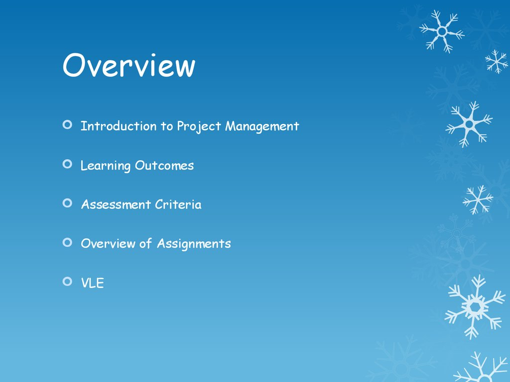 unit it project introduction what is project management 2 overview introduction to project management