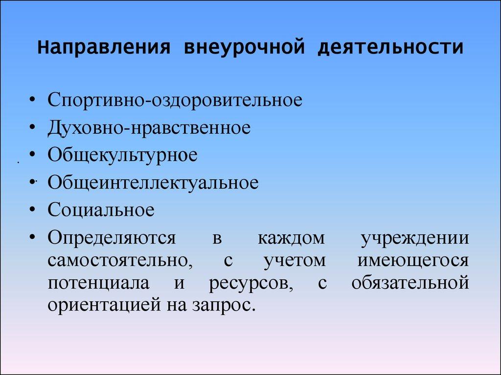 Презентация на тему:  модель организации внеурочной деятельности