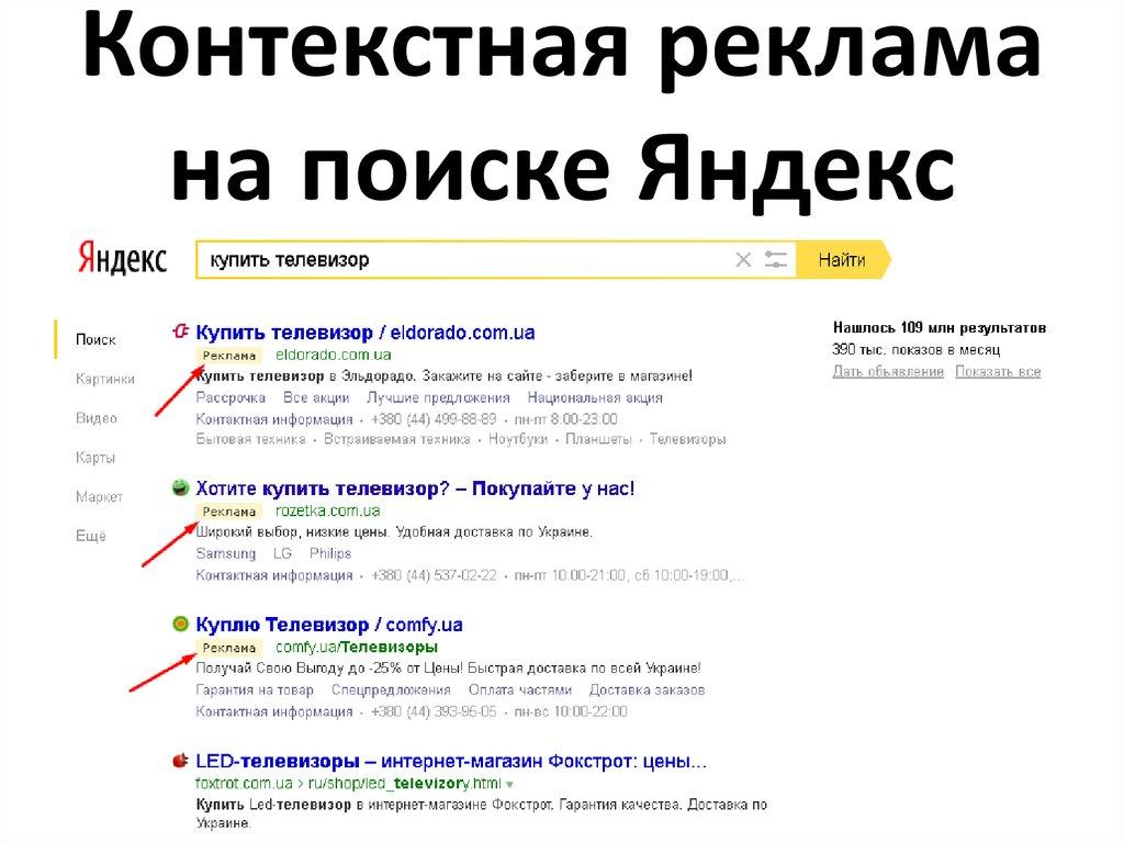 Цена контекстной рекламы на яндексе