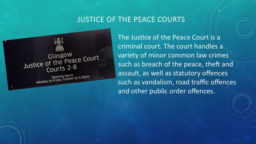 Justice of the Peace Courts