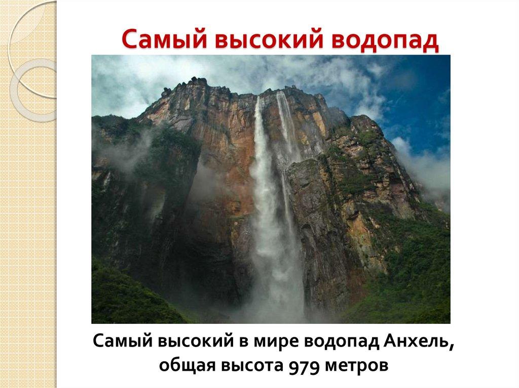 Где находиться самый высокий водопад