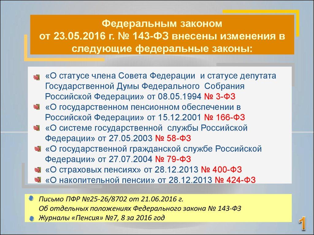 Закон о пенсии депутатам
