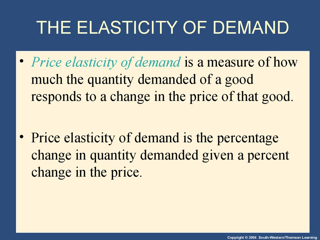 supply and demand and price elasticity Factors affecting the price elasticity of demand what are the factors that affect the price elasticity of supply what are some real-world examples of perfectly.