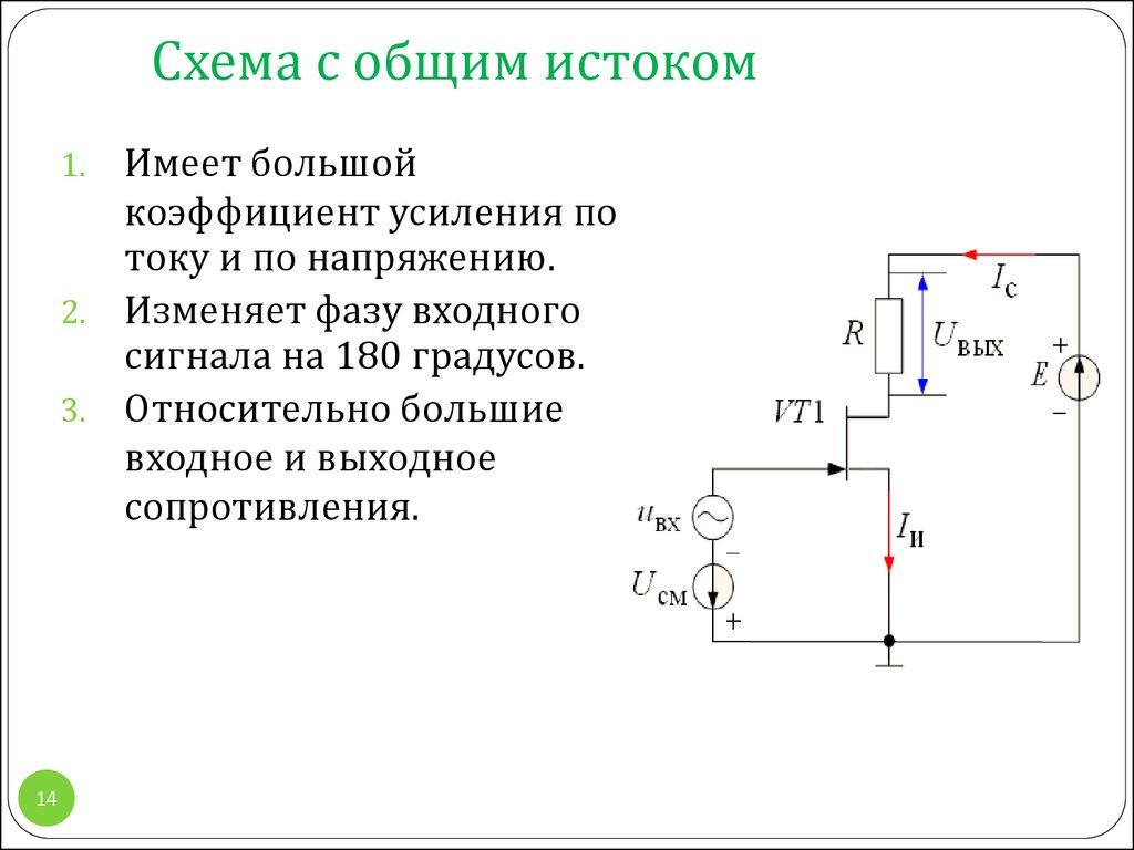 Расчет для схем с общим коллектором