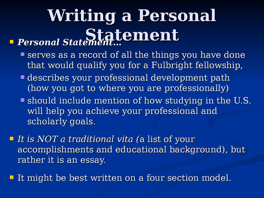 fulbright personal statement essay