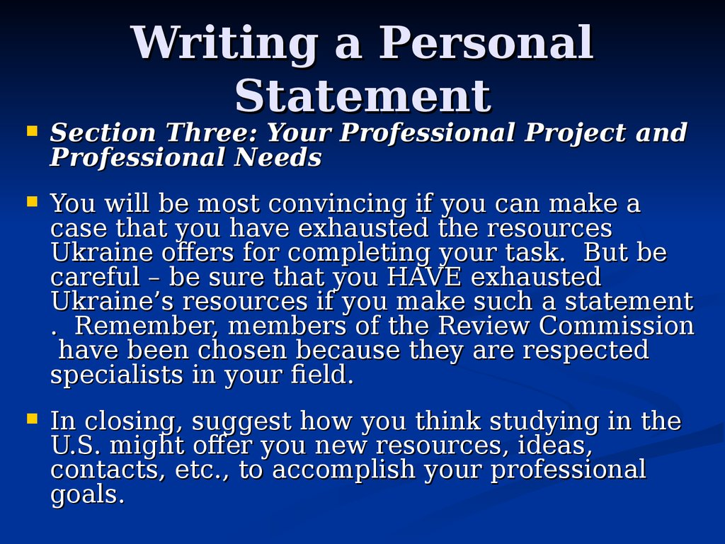 an introduction to the personal statement for the national merit competition Entry into all regional contests is based on school residence and is automatically submitted through entry into the international contest.