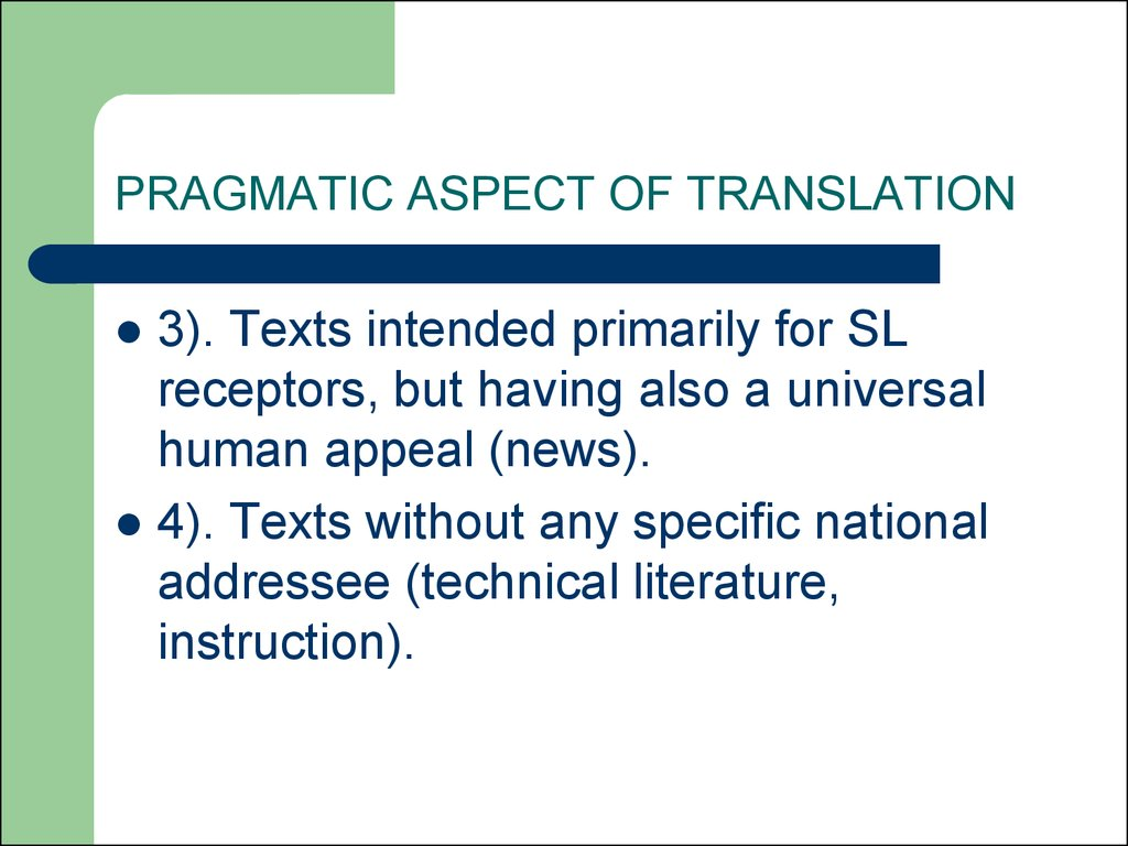 Different translation theories