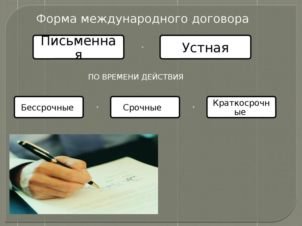 Форму международного договора