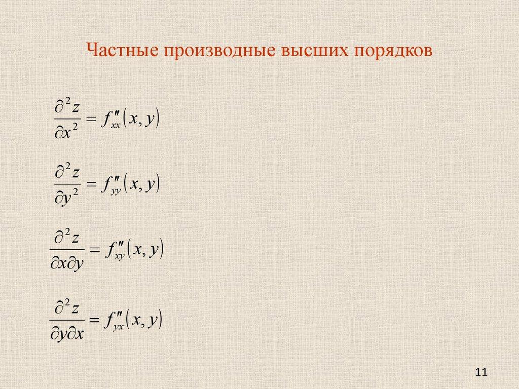 Калькулятор производных первого и второго порядков так