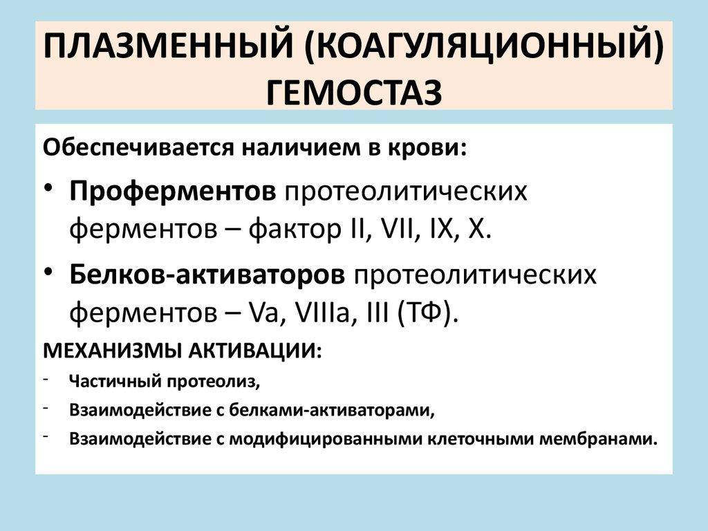 презентация биохимия гемостаз