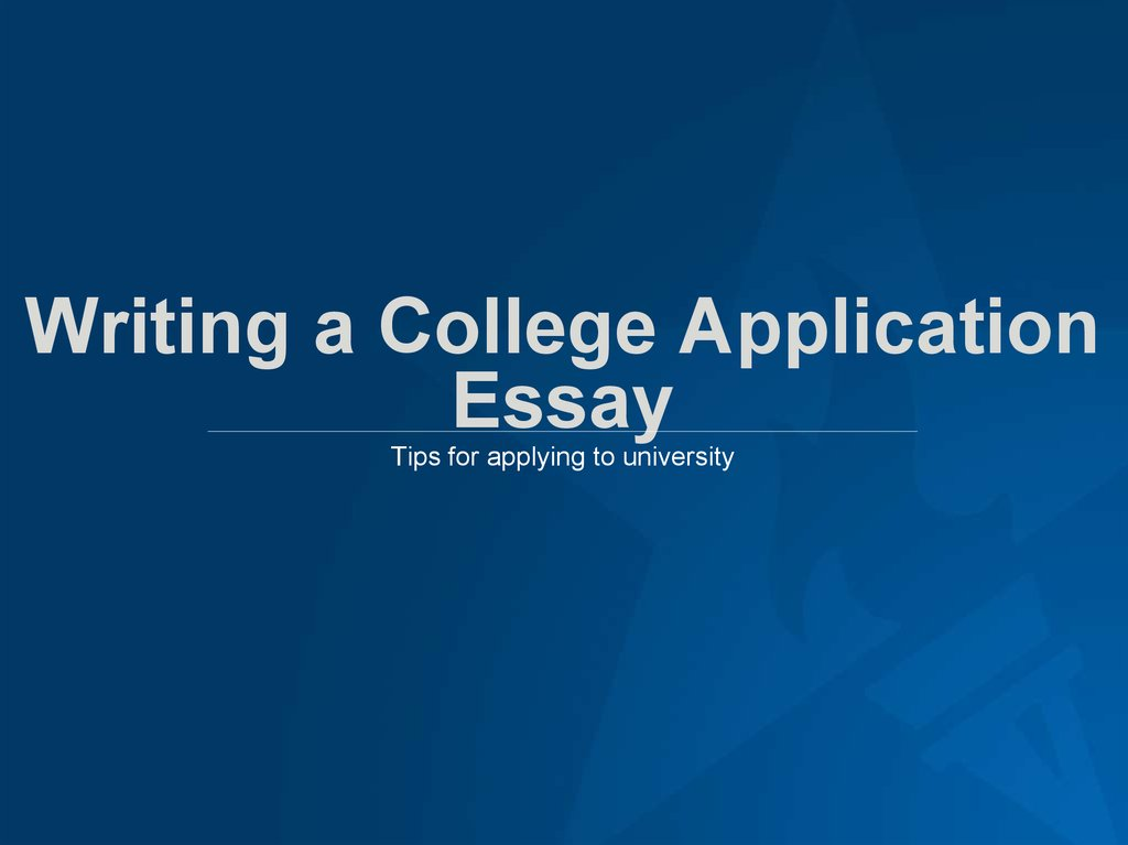 college application essay writers Dr allen grove is an alfred university english professor and a college admissions expert with 20 years of experience helping students transition to college many college applicants make the mistake of trying to include all of their accomplishments and activities in their application essays such.