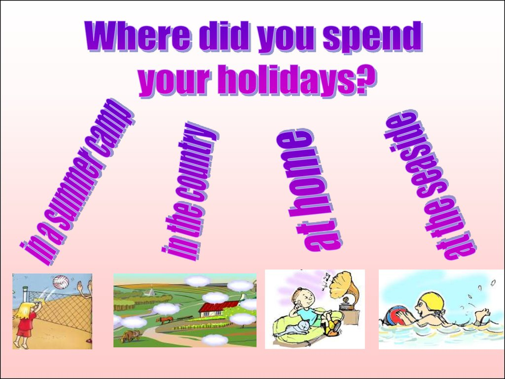 How do you spend your holiday