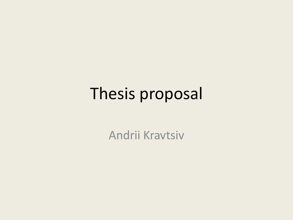 thesis molecular