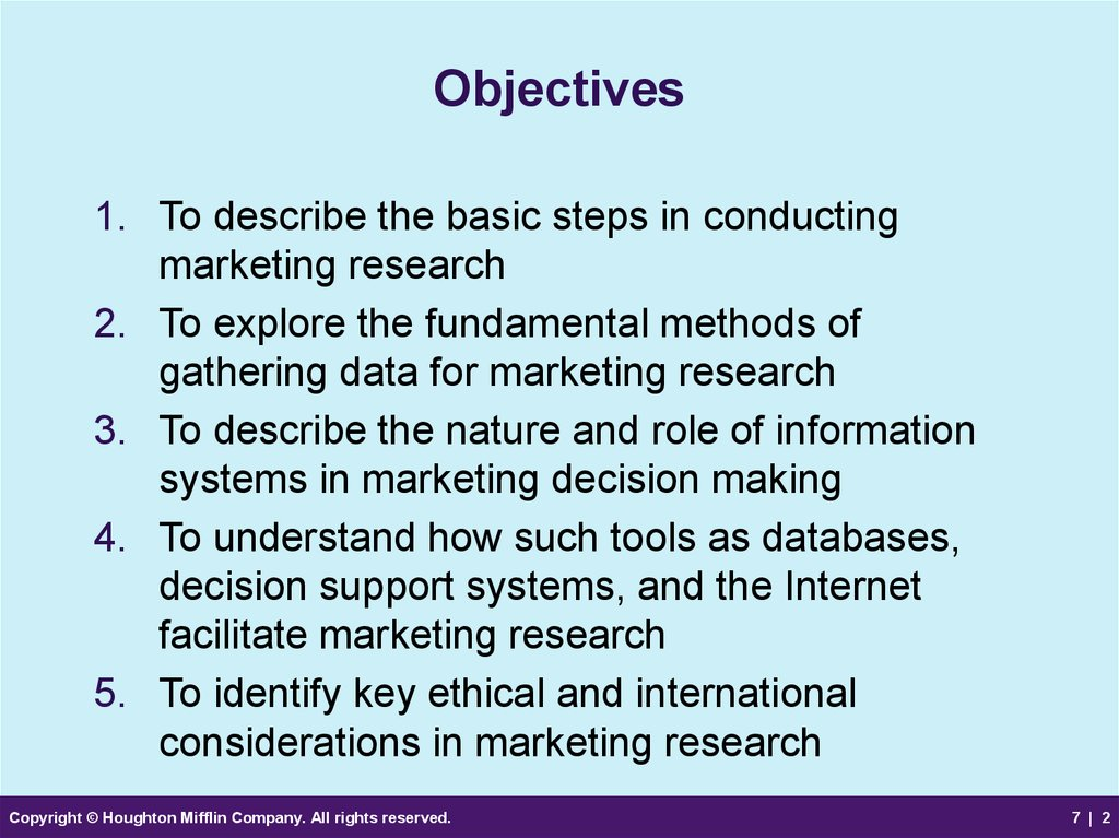 Marketing research and information
