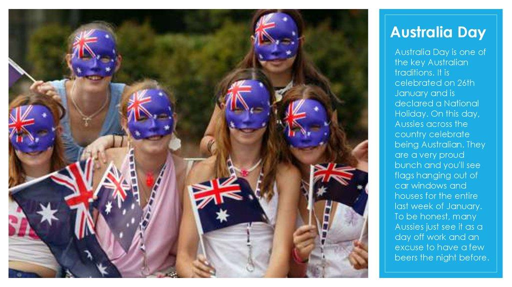 traditions and holidays in Australia - презентация онлайн
