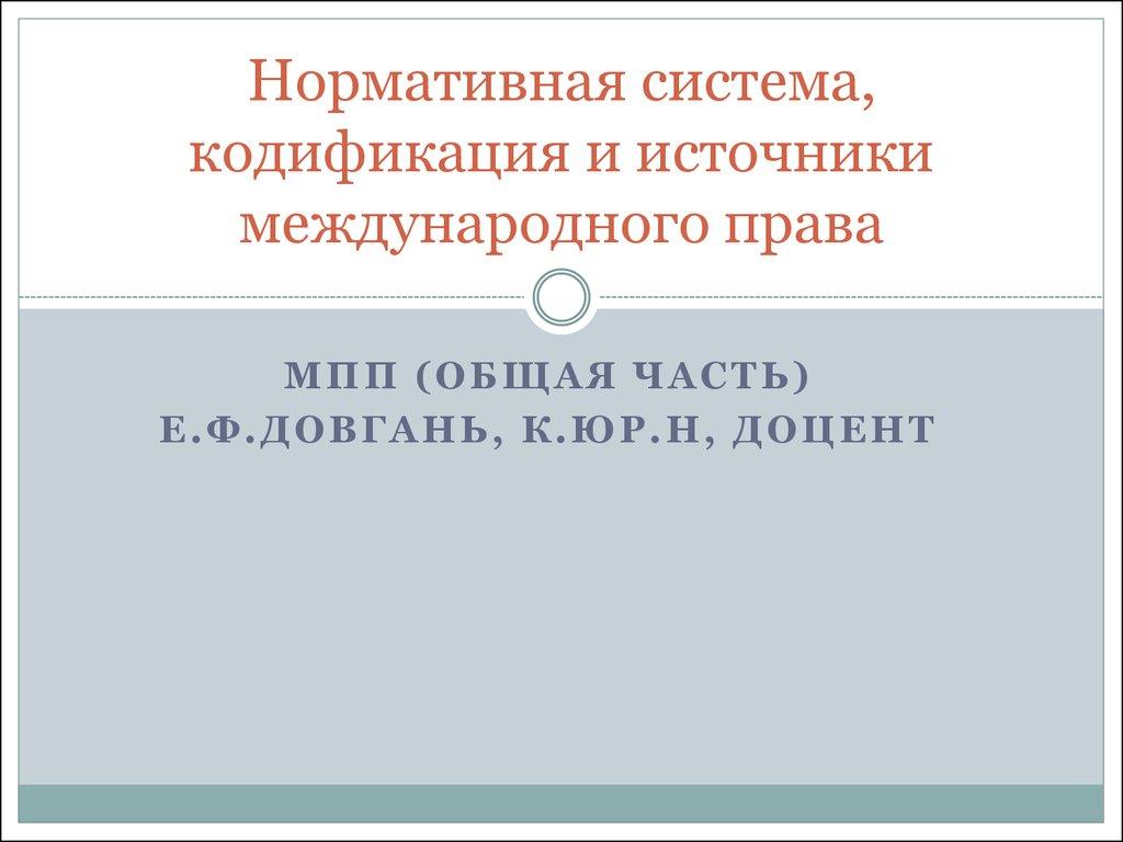 презентация основные понятия международного права