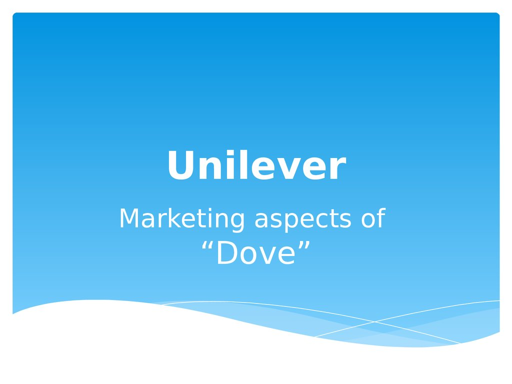 """unilever marketing project Paul polman, ceo of unilever, said: """"this project is further  a secure route to  market and sustainable livelihoods for many years to come."""