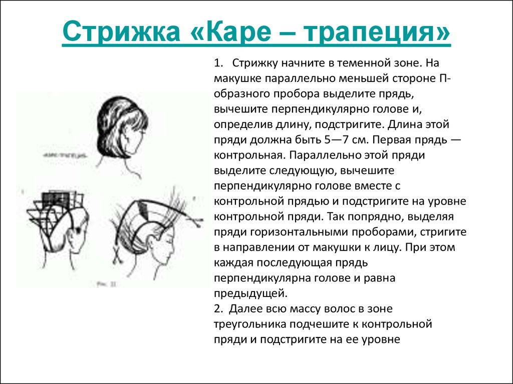 Схема стрижки женская каре