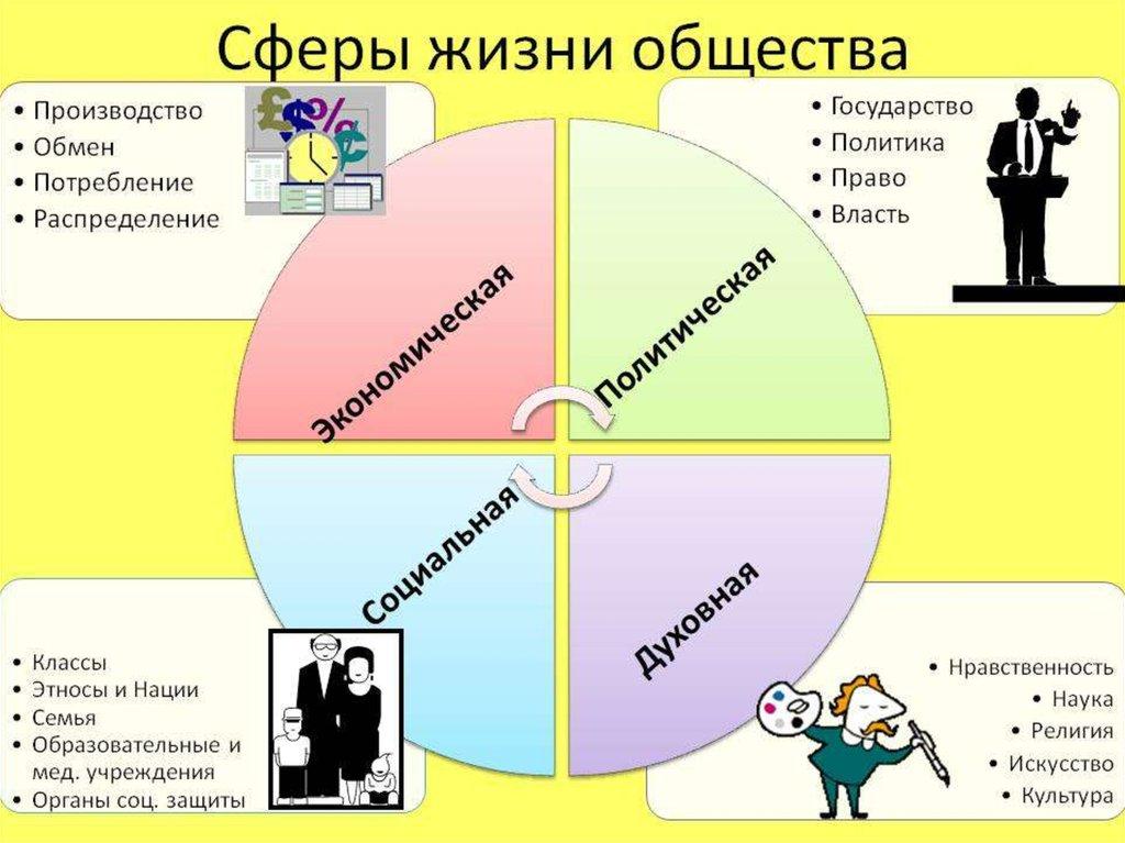 Экономическая сфера жизни общества связана с