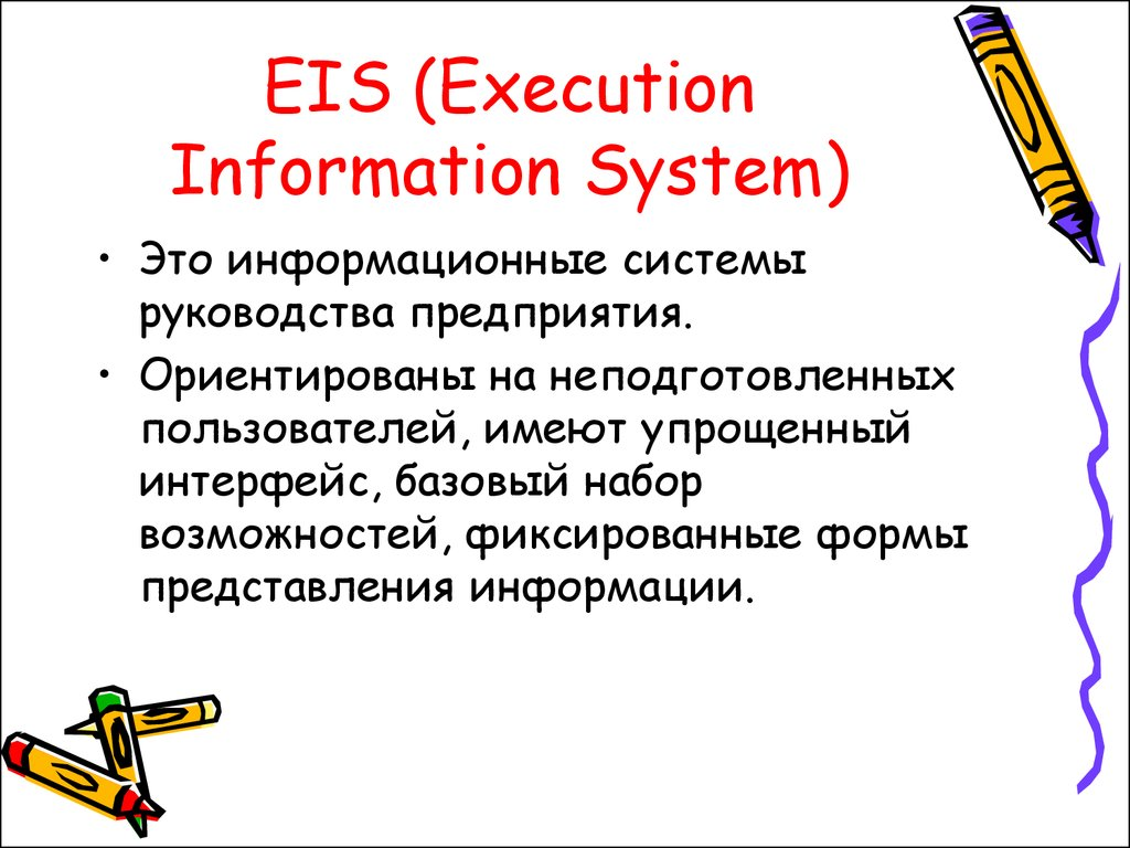 EIS (Execution Information System)