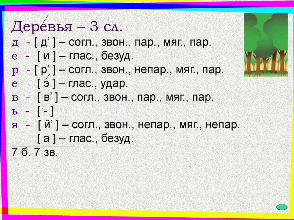 фонетический разбор с ъ знаком