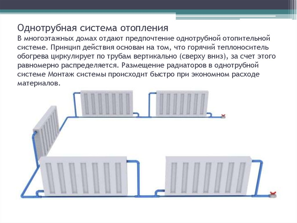Отопление в частном доме своими руками однотрубная система отопления 643