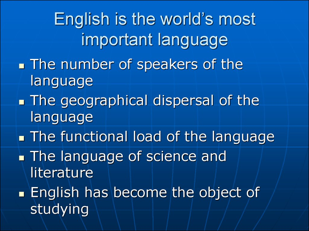defination of importance of english language Definition of language  definition of language in english:  'it is argued that these results have practical importance for teaching english as a second.