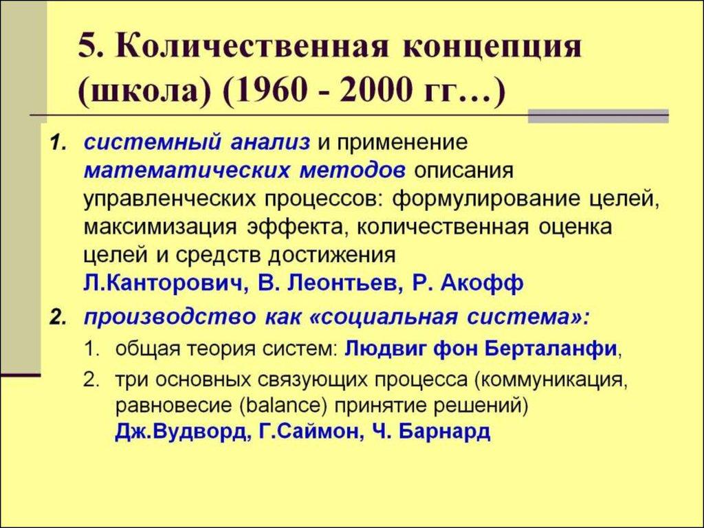 Управленческая школа количественных отношений